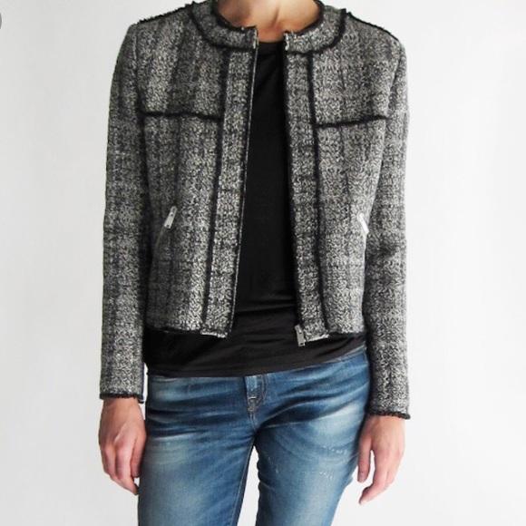 Isabel Marant Etoile Gray Laura Boucle Jacket